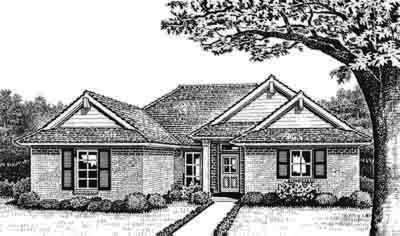 Traditional Style Home Design Plan: 8-123