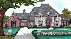 European Style House Plans Plan: 8-1237