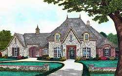 European Style House Plans Plan: 8-1239