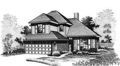 Traditional Style Home Design Plan: 8-125