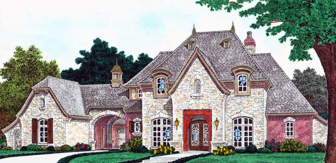 European Style House Plans Plan: 8-1260