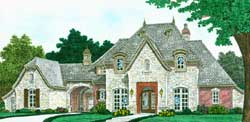 European Style Home Design Plan: 8-1260