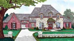 French-Country Style House Plans Plan: 8-1261