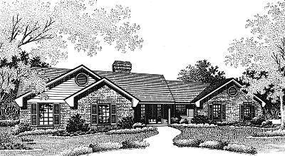 Ranch Style Home Design Plan: 8-127