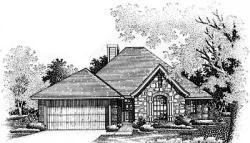 European Style House Plans Plan: 8-130