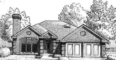 Traditional Style Home Design Plan: 8-132