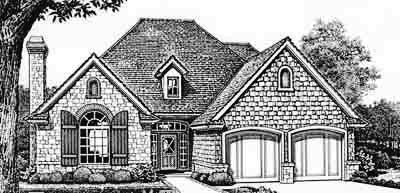 European Style House Plans Plan: 8-142