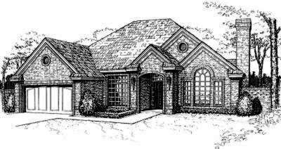 Traditional Style Home Design Plan: 8-143