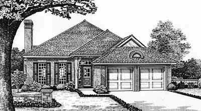 Traditional Style Home Design Plan: 8-147