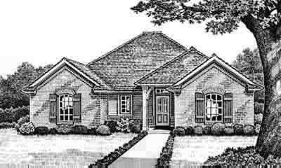 Traditional Style Home Design Plan: 8-149