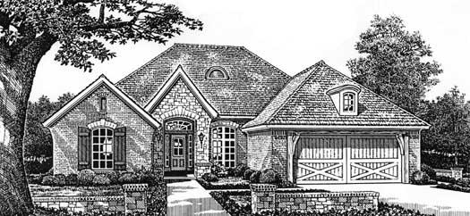 European Style House Plans Plan: 8-152