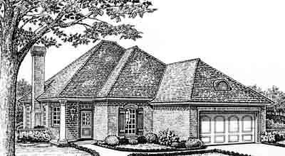 Traditional Style Home Design Plan: 8-153