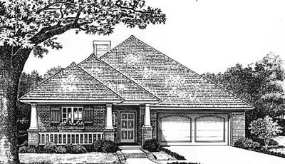 Country Style Home Design Plan: 8-155