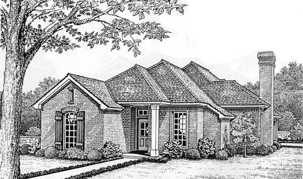 Traditional Style Home Design Plan: 8-160