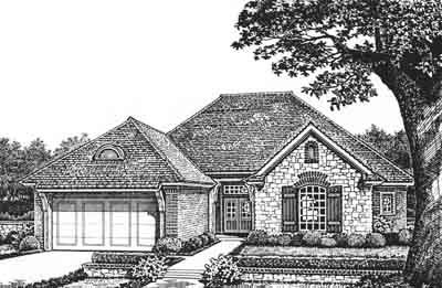 Traditional Style Floor Plans Plan: 8-163