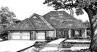 Traditional Style Home Design Plan: 8-166