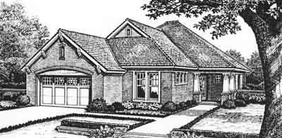 Traditional Style Home Design Plan: 8-177