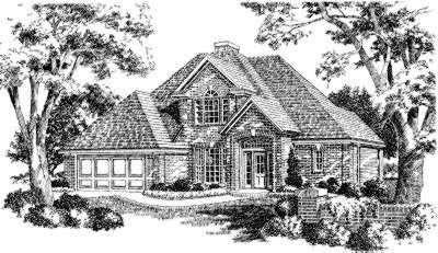 Traditional Style Home Design Plan: 8-179