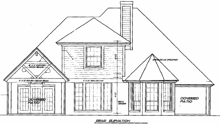Rear Elevation Plan: 8-179