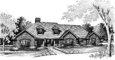 Traditional Style Home Design Plan: 8-182