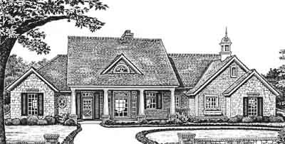 Country Style Home Design Plan: 8-185
