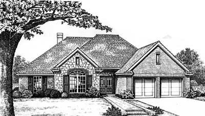 Traditional Style Home Design Plan: 8-187