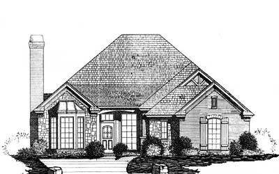 Traditional Style Home Design Plan: 8-197
