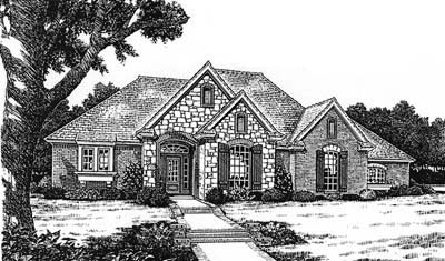 Traditional Style Home Design Plan: 8-204