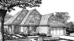 English-Country Style Home Design Plan: 8-205