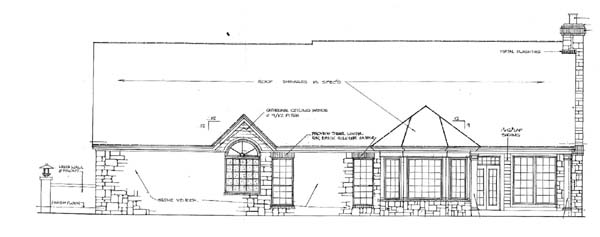 Rear Elevation Plan: 8-207
