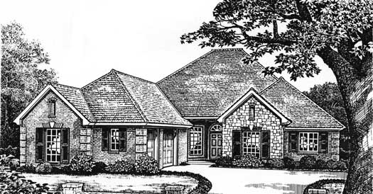 Traditional Style Home Design Plan: 8-208