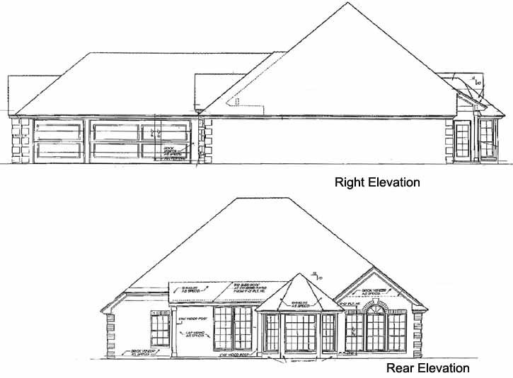 Rear Elevations Plan:8-208