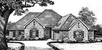 Traditional Style Home Design Plan: 8-215