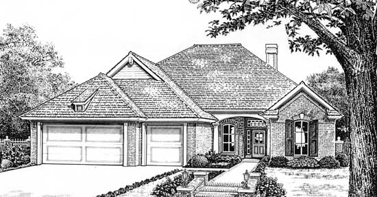 Traditional Style Home Design Plan: 8-217