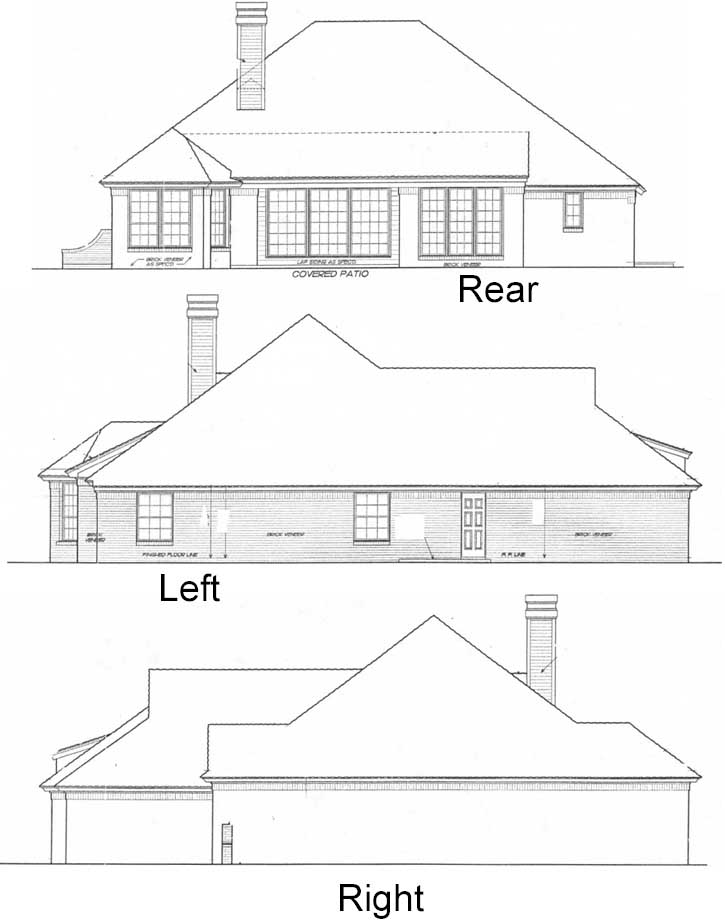 Rear Elevation Plan: 8-217