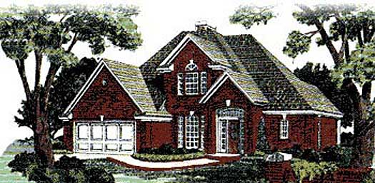 Traditional Style Home Design Plan: 8-220