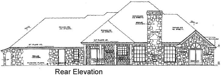 Rear Elevation Plan: 8-224