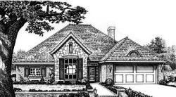 Traditional Style Home Design Plan: 8-228