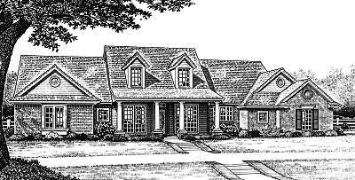 Country Style Floor Plans Plan: 8-229