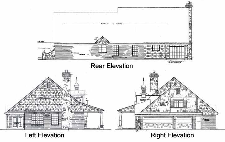 Rear Elevation Plan: 8-236