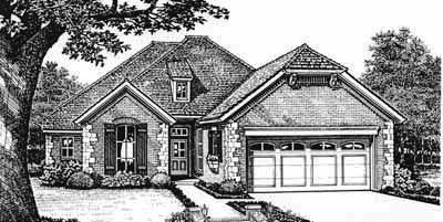 European Style House Plans Plan: 8-239