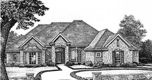 Traditional Style Floor Plans Plan: 8-245