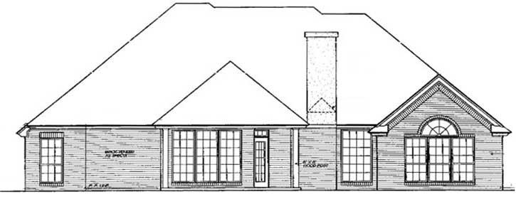 Rear Elevation Plan: 8-245