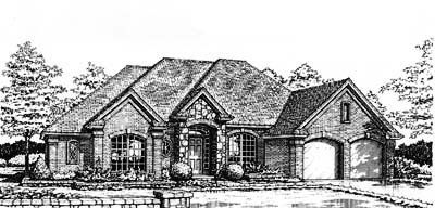 Traditional Style Home Design Plan: 8-246