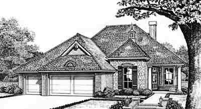 Traditional Style Home Design Plan: 8-260