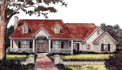 Southern Style Home Design Plan: 8-261