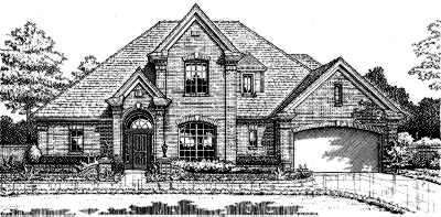 Traditional Style Home Design Plan: 8-262