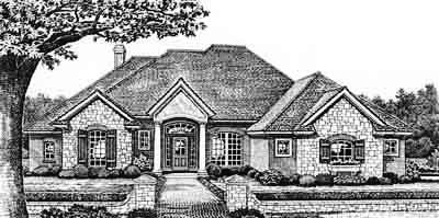 Traditional Style Home Design Plan: 8-274