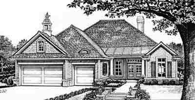 Traditional Style Home Design Plan: 8-275