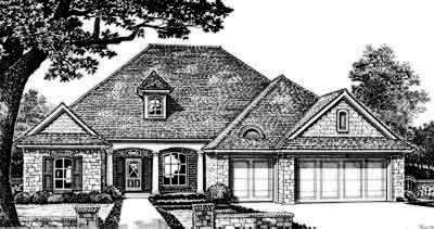 Traditional Style Home Design Plan: 8-276